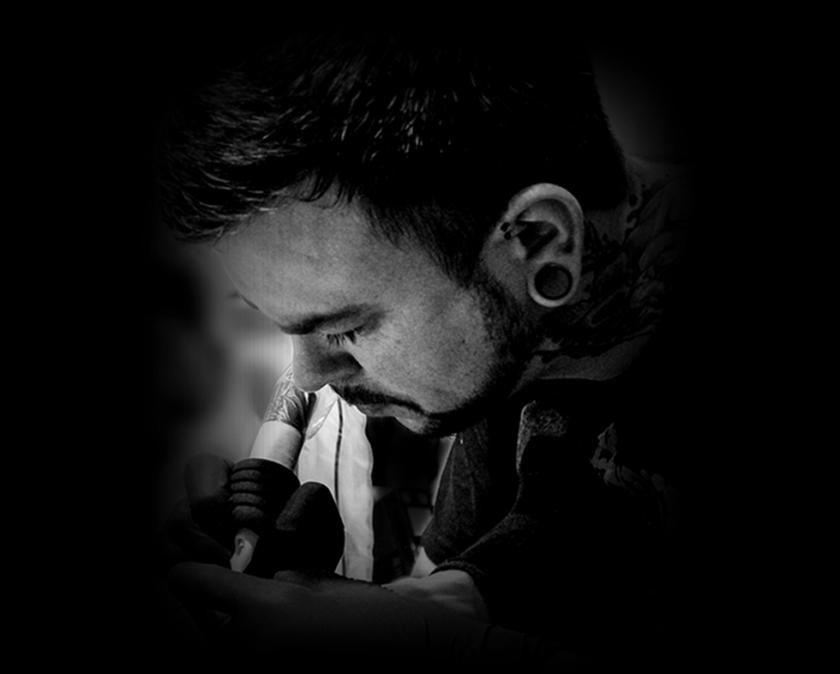 Alek Sting Tattoo at work